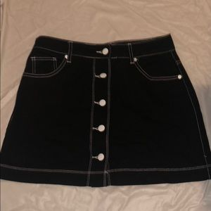 Black Skirt With White Trim